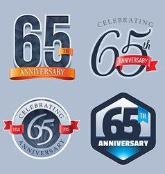 65 years anniversary logo vector