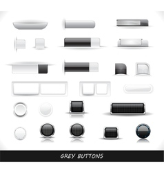 Set of grey web buttons vector