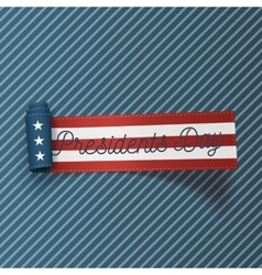 Presidents day big realistic sctoll textile ribbon vector