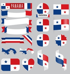 Panama flags vector