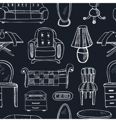 Seamless patterndoodle sketch furniture vector