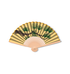 Fan for kabuki dance geisha accessories vector