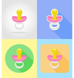 baby flat icons 06 vector image