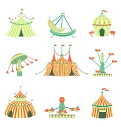 Amusement park elements collection vector
