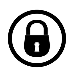 Black lock icon image design vector