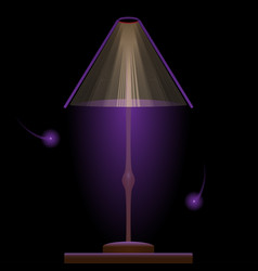 Book light purple book with glow purple firefly vector