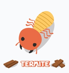 cartoon of termite vector image