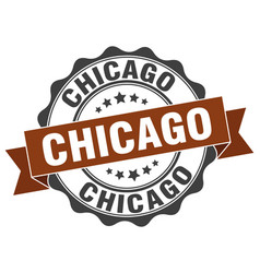 Chicago round ribbon seal vector