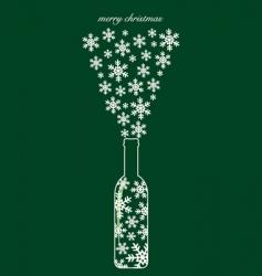 Christmas bottle design vector image vector image