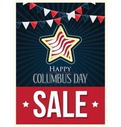 Columbus day sale poster background vector