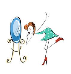 Doodle stickman concept makeup near vector