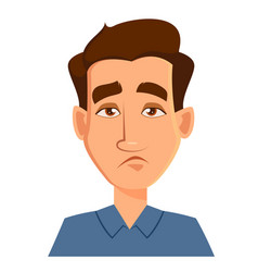 Face expression of a man - tired male emotions vector