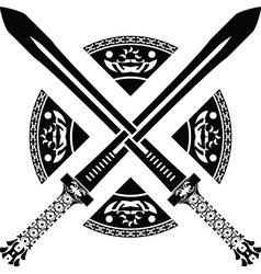 Fantasy swords second variant vector