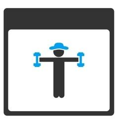 Gentleman Fitness Calendar Page Toolbar vector image