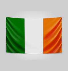 Hanging flag of ireland ireland national flag vector