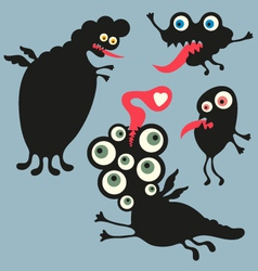 Happy monsters - Set 3 vector image