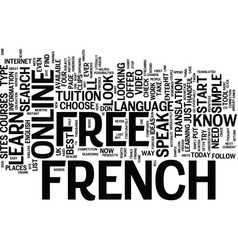 learn to speak french free text background word vector image