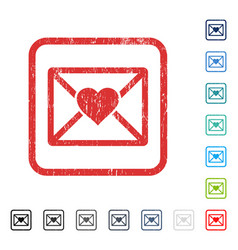 Love letter icon rubber watermark vector