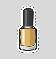 Nail polish patch with dashed line women accessory vector