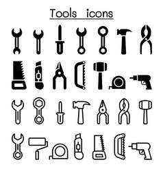 repair tools icon set vector image