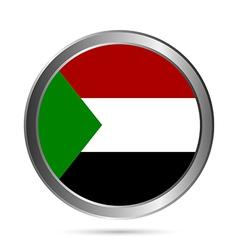 Sudan flag button vector