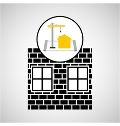 under construction brick graphic vector image