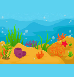 Underwater landscape background vector