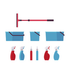 Window cleaning tools and equipment vector