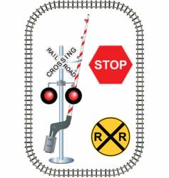 rail road vector image