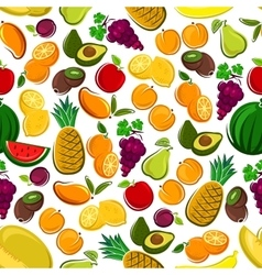 Fruits seamless pattern background vector