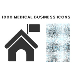 Government building icon with 1000 medical vector
