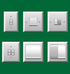 Light switch set vector