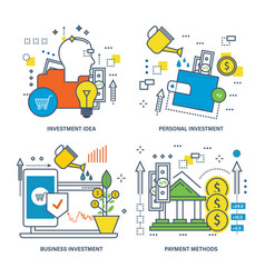 Investment business investment payment methods vector