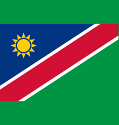 Colored flag of namibia vector