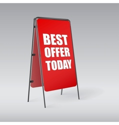 Pavement sign with the text Best offer today vector image