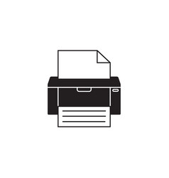 Fax solid icon printer electronic device vector