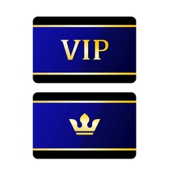 Vip cards with crown vector