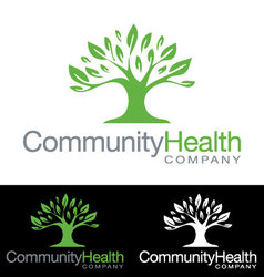 Social community health company icon logo vector