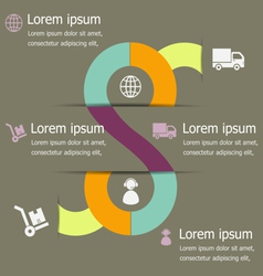 Infographic of logistic design template vector