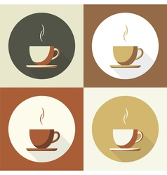 Coffee cup set icon vector