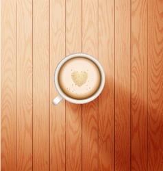 Good morning coffee break hot coffee cup vector