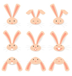 Face rabbit vector