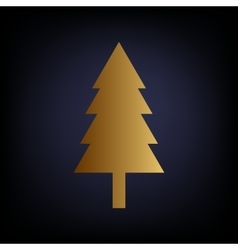 New year tree sign vector