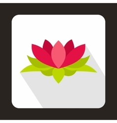 Lotus flower icon flat style vector