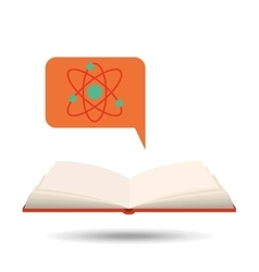 book open chemistry concept school graphic vector image