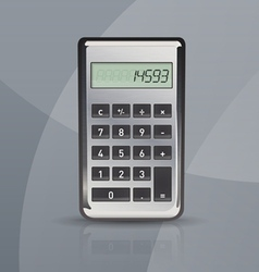 calculator on gray stylish background vector image vector image