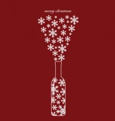 Christmas bottle design vector image