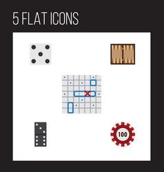 Flat icon entertainment set of sea fight bones vector