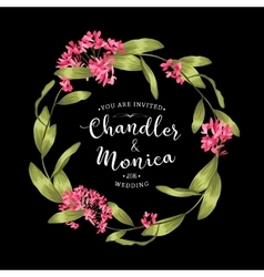 Floral background for invitation card vector image vector image