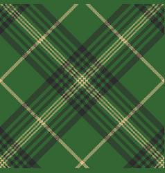 green check plaid tartan seamless pattern vector image